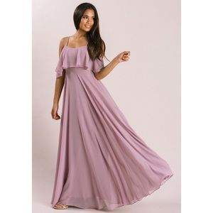 Dresses & Skirts - Lavender off the shoulder maxi dress NWT